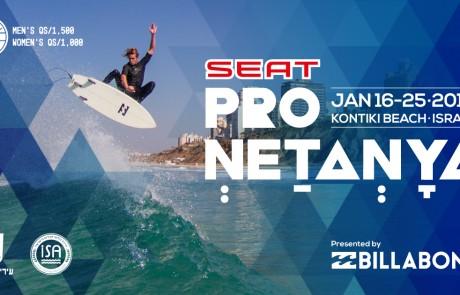 מותג סיאט נותן החסות הראשי לתחרות ה-QS ״SEAT Pro Netanya״ של ה-WSL בשיתוף בילבונג